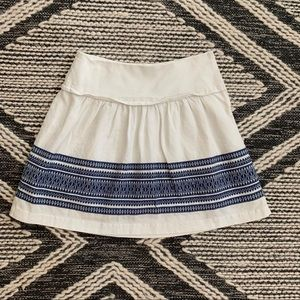 White cotton madewell skirt